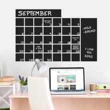 "Chalkboard Calendar Wide Wall Decals 36"" wide x 23"" tall Sample Image"