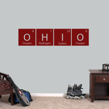 """Ohio Periodic Table - Wall Decal Wall Stickers 48"""" wide x 11.5"""" tall Sample Image"""