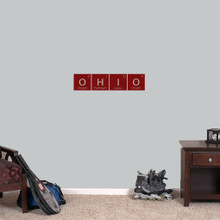 """Ohio Periodic Table - Wall Decal Wall Stickers 24"""" wide x 5.5"""" tall Sample Image"""