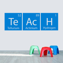 "Teach Periodic Table 60"" wide x 19.5"" tall  Sample Image"