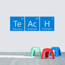 "Teach Periodic Table 48"" wide x 15.5"" tall  Sample Image"