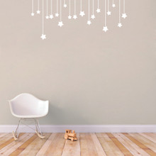 """Hanging Stars Wall Decals 48"""" wide x 20"""" tall Sample Image"""