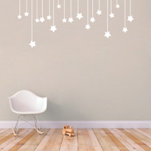 """Hanging Stars Wall Decals 60"""" wide x 25"""" tall Sample Image"""