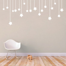 """Hanging Stars Wall Decals 72"""" wide x 30"""" tall Sample Image"""
