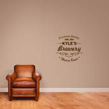"Custom Brewery Bar Wall Decal 22"" wide x 22"" tall Sample Image"