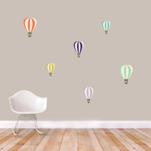 Colorful Hot Air Balloons Printed Wall Decals Small Sample Image