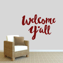 "Welcome Y'all Ohio Wall Decal 36"" wide x 27"" tall Sample Image"