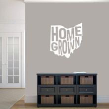 """Homegrown Ohio Wall Decal 22"""" wide x 24"""" tall Sample Image"""