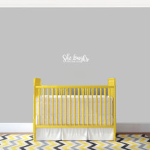 "She Laughs Ohio Wall Decal 12"" wide x 4"" tall Sample Image"