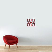 "OHIO OHIO OHIO OHIO Wall Decal 12"" wide x 12"" tall Sample Image"