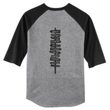 Heather Grey/Black Ohio Hot Spots 3/4 Length Sleeve Raglan T-Shirt