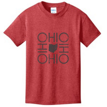 Heather Red Ohio Youth T-Shirt