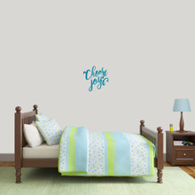 "Choose Joy Wall Decal 12"" wide x 12"" tall Sample Image"