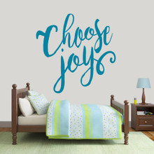 "Choose Joy Wall Decal 48"" wide x 48"" tall Sample Image"