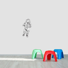 "Astronaut Printed Wall Decal 12"" wide x 24"" tall Sample Image"