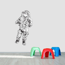 "Astronaut Printed Wall Decal 24"" wide x 48"" tall Sample Image"