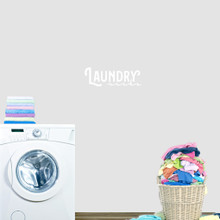 "Laundry Sucks Wall Decal 18"" wide x 6"" tall Sample Image"