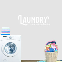 "Laundry Sucks Wall Decal 36"" wide x 12"" tall Sample Image"