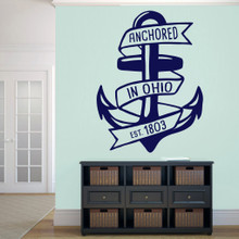 "Anchored In Ohio Wall Decal 36"" wide x 48"" tall Sample Image"