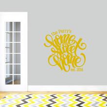"Custom Home Sweet Home Wall Decal 36"" wide x 36"" tall Sample Image"