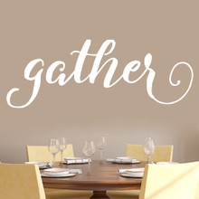 "Gather Wall Decal 60"" wide x 22"" tall Sample Image"