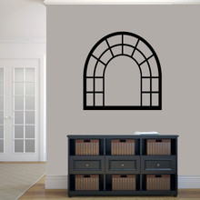 "Arched Window Frame Wall Decals 36"" wide x 36"" tall Sample Image"
