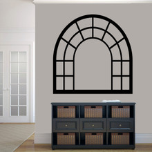 "Arched Window Frame Wall Decals 48"" wide x 48"" tall Sample Image"