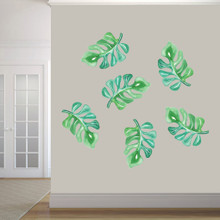 Tropical Branches Printed Wall Decals Large Sample Image