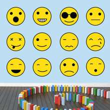 Emoji Smiley Faces Printed Wall Decals Large Sample Image