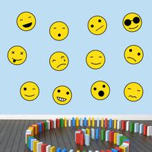 Emoji Smiley Faces Printed Wall Decals Medium Sample Image