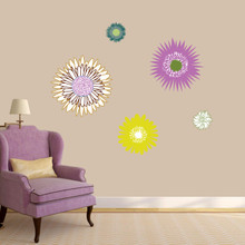 Wildflowers Printed Wall Decal Small Sample Image