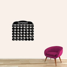 "Chalkboard Fancy Calendar Wall Decals 24"" wide x 22"" tall Sample Image (Writing Not Included With Order)"