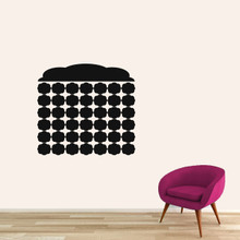 "Chalkboard Fancy Calendar Wall Decals 30"" wide x 28"" tall Sample Image"