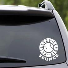 Custom Name White Bellevue Tennis Vehicle Decal Sample Image