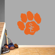 "Seneca East Paw Print Wall Decal 36"" wide x 36"" tall Sample Image"
