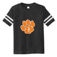 Black / White Seneca East Paw Print Toddler Jersey T-Shirt