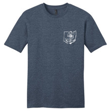 Heathered Navy Anchored In Ohio Adult Unisex T-Shirt Front