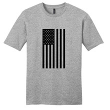Light Heathered Gray American Flag Silhouette T-Shirt