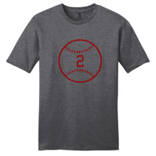 Heathered Charcoal Custom Baseball T-Shirt