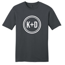 Charcoal Custom Circle Initials T-Shirt