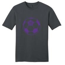 Charcoal Custom Soccer Ball T-Shirt