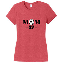 Red Frost Custom Soccer Mom Women's Fitted T-Shirt