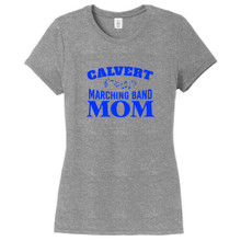 Gray Frost Custom Marching Band Mom Women's Fitted T-Shirt
