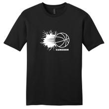Black Custom Basketball Breaking Through Wall T-Shirt