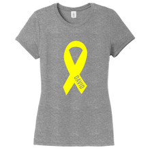 Gray Frost Custom Awareness Ribbon Women's Fitted T-Shirt