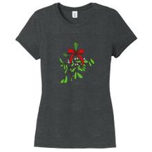 Black Frost Mistletoe Women's Fitted T-Shirt