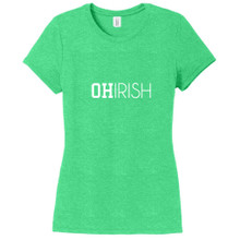 Green Frost Ohirish Women's Fitted T-Shirt