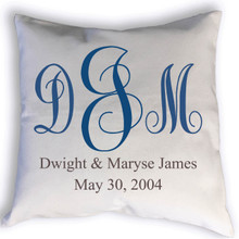 Fancy Monogram with Name pillow