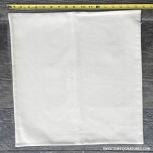 "18"" cotton pillow case. Natural color with hidden zipper closure."
