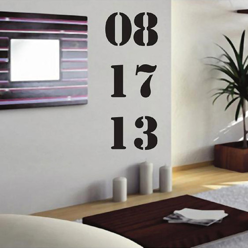 Custom Anniversary Birthday Or Important Date Wall Decals And Stickers